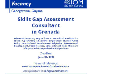We're hiring! Consultant – Skills Gap Assessment, Grenada